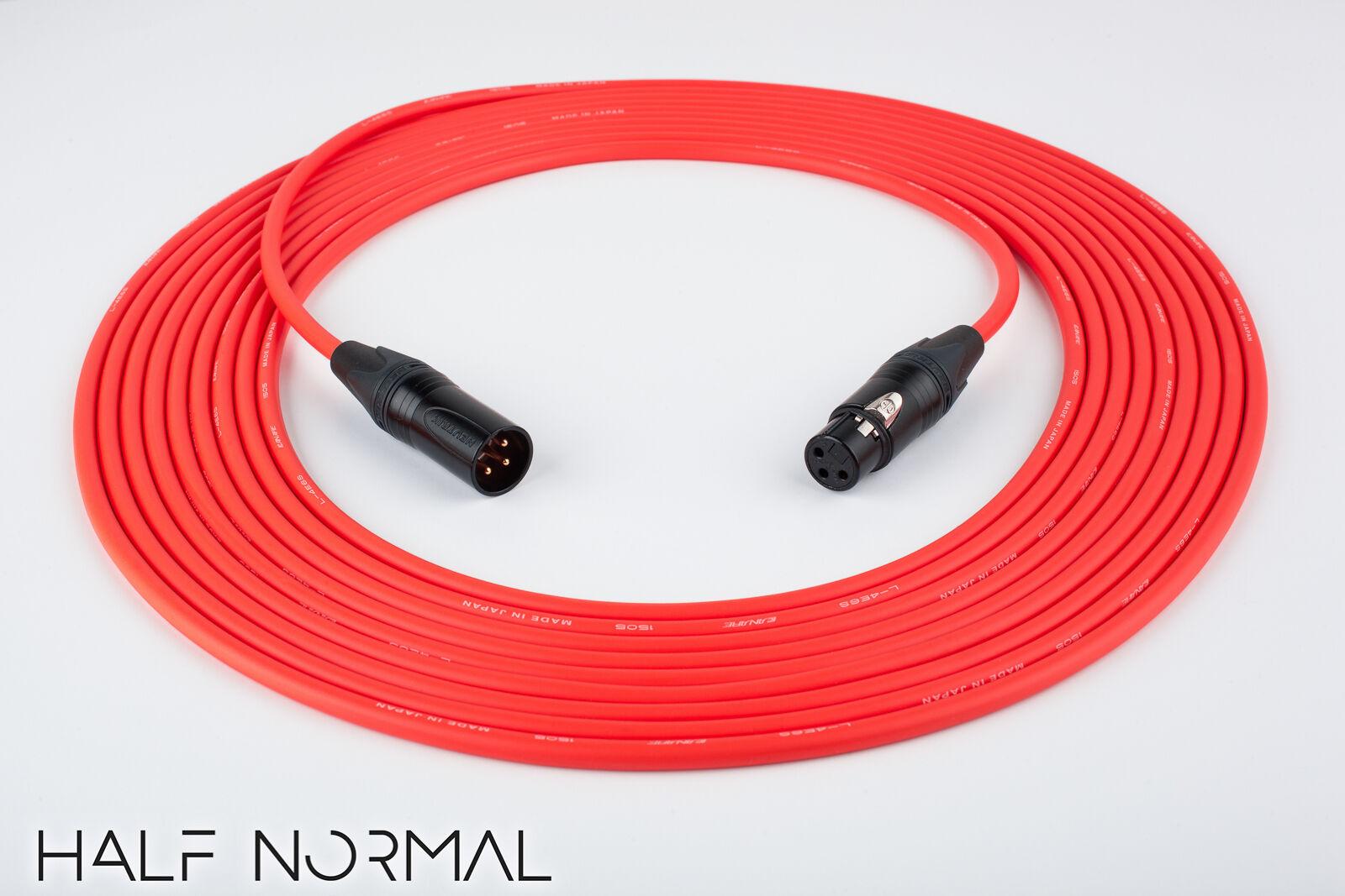 50' Canare L-4E6S Quad Balanced Cable Neutrik Gold XLR Male to XLR Female rot