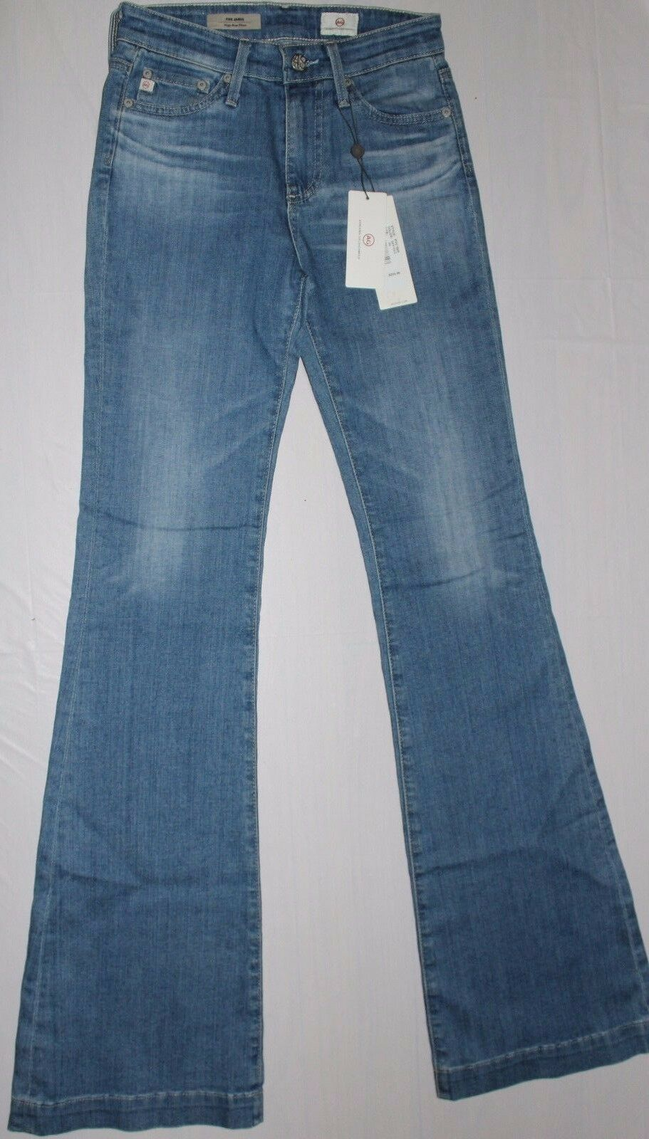 225 AG ADRIANO goldSCHMIED THE JANIS HIGH RISE FLARE JEANS US 24