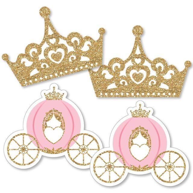 Little Girls Princess Crown Tiara and Wand Set Cosplay Dress Up Costume  FD18