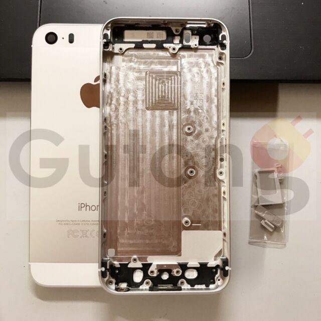 Backcover Gehäuse für Apple iPhone 5S silber Rahmen Rückseite reparatur Ersatz