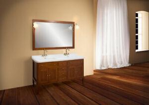 Arredo bagno classico windsor cm doppio lavabo legno massello