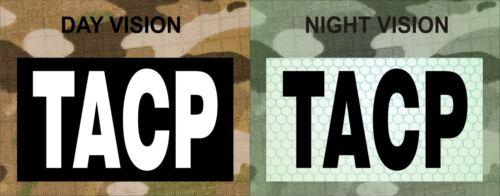"TACP WHITE ON IR MAGIC BLACK solasX PATCH 3.5/""X2/"" WITH VELCRO® BRAND FASTENER"