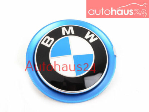 BMW I12 I8 FRONT BLUE BMW ROUNDEL BADGE EMBLEM FRONT HOOD GENUINE OEM