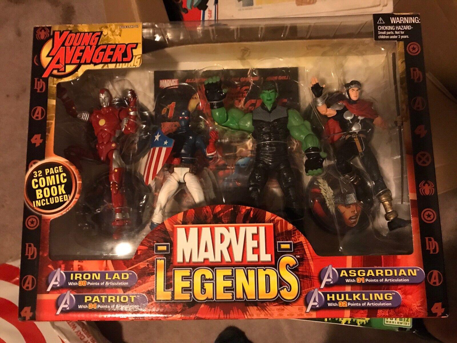 Marvel Legends Young Avengers  Set Iron Lad, Patriot, Asgardian, Hulkling, MISB  Commandez maintenant