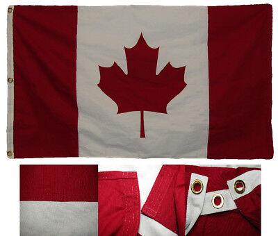 1.5x2.9m Bestickt Kanada Land 100% Cotton Premium Qualität Schatulle Flagge