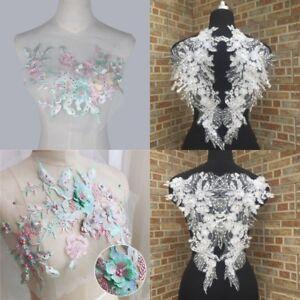 3D-Flower-Lace-Applique-Sewing-Bridal-Wedding-Trims-Motif-Embroidery-Crafts-DIY