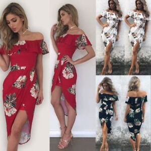 Fashion-Womens-Summer-Boho-Floral-Beach-Dress-Evening-Cocktail-Long-Maxi-Dresses