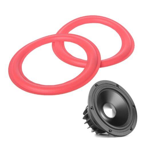 6.5 Inch Subwoofer Speaker Surround Foam Woofer Speakers Repair Accessories Red