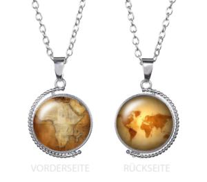 Details zu Weltkarte Erde Globus Afrika Kugel Vintage Damen Herren Anhänger Halskette
