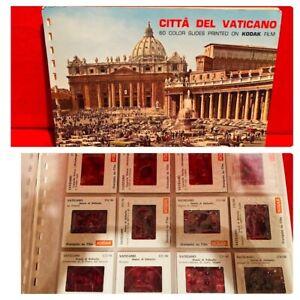 Vintage Vatican City Kodak Picture Slides Citta Del Vaticano Italy Souvenir Old