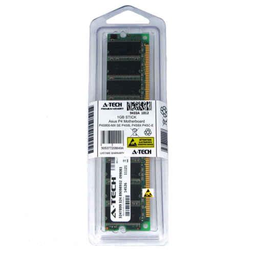 1GB DIMM Asus P4S800-MX SE P4S8L P4S8X P4S8X Gold P4S8X-X P4SC-E Ram Memory