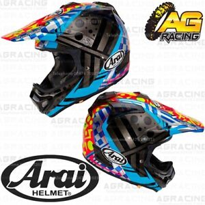 3f9247d9 Arai MXV MX-V Helmet Justin Barcia 2 II Blue Yellow Red Motocross ...