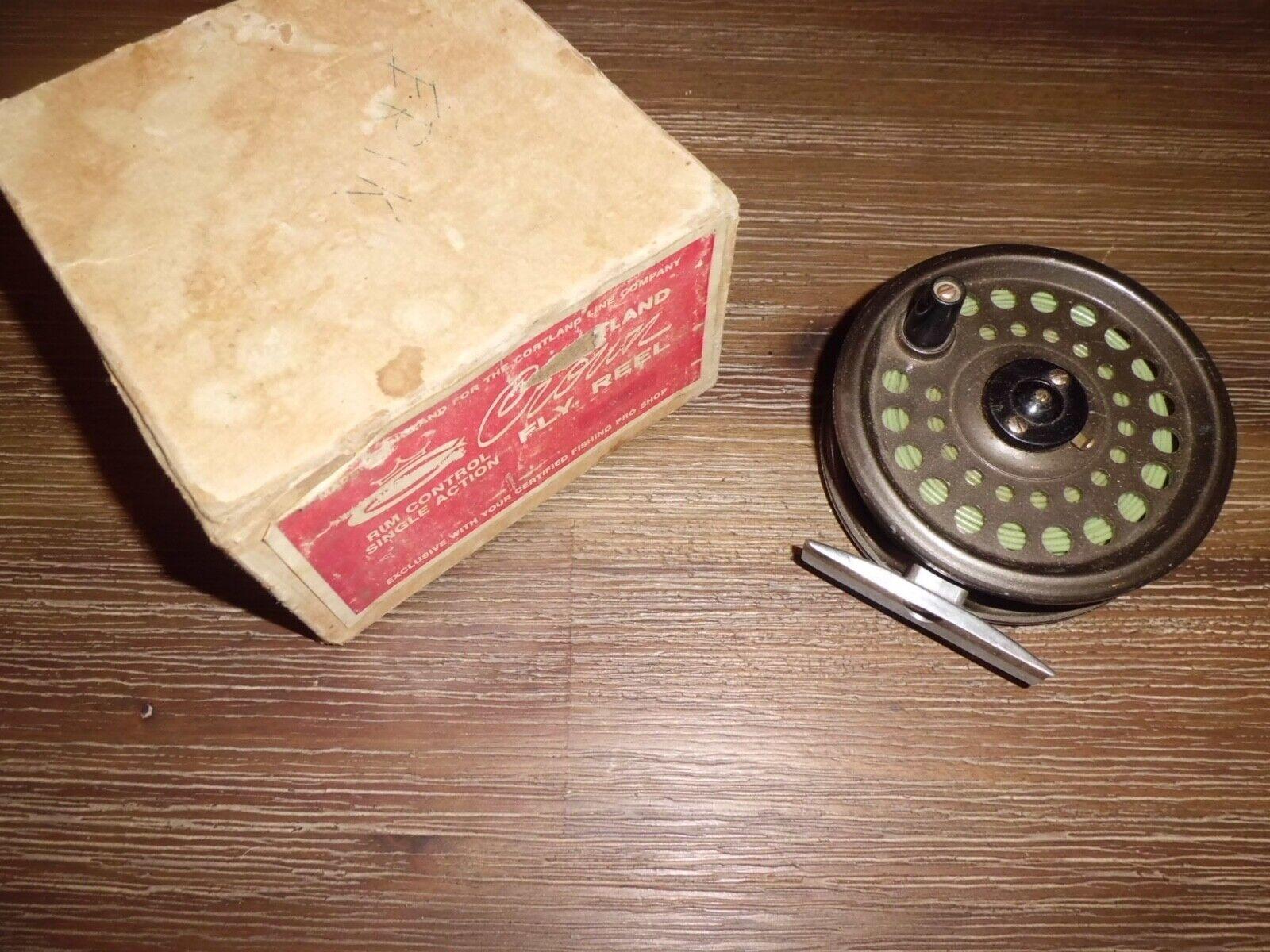 Vintage Cortland CROWN Rim Control Single Action Fliegen Reel made in England