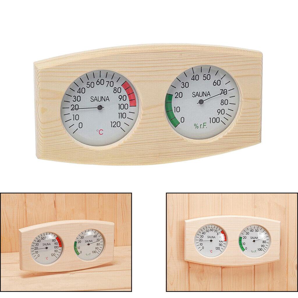 Kiefernholz Sauna Thermometer & Hygrometer Holz Hygrothermograph Langlebig