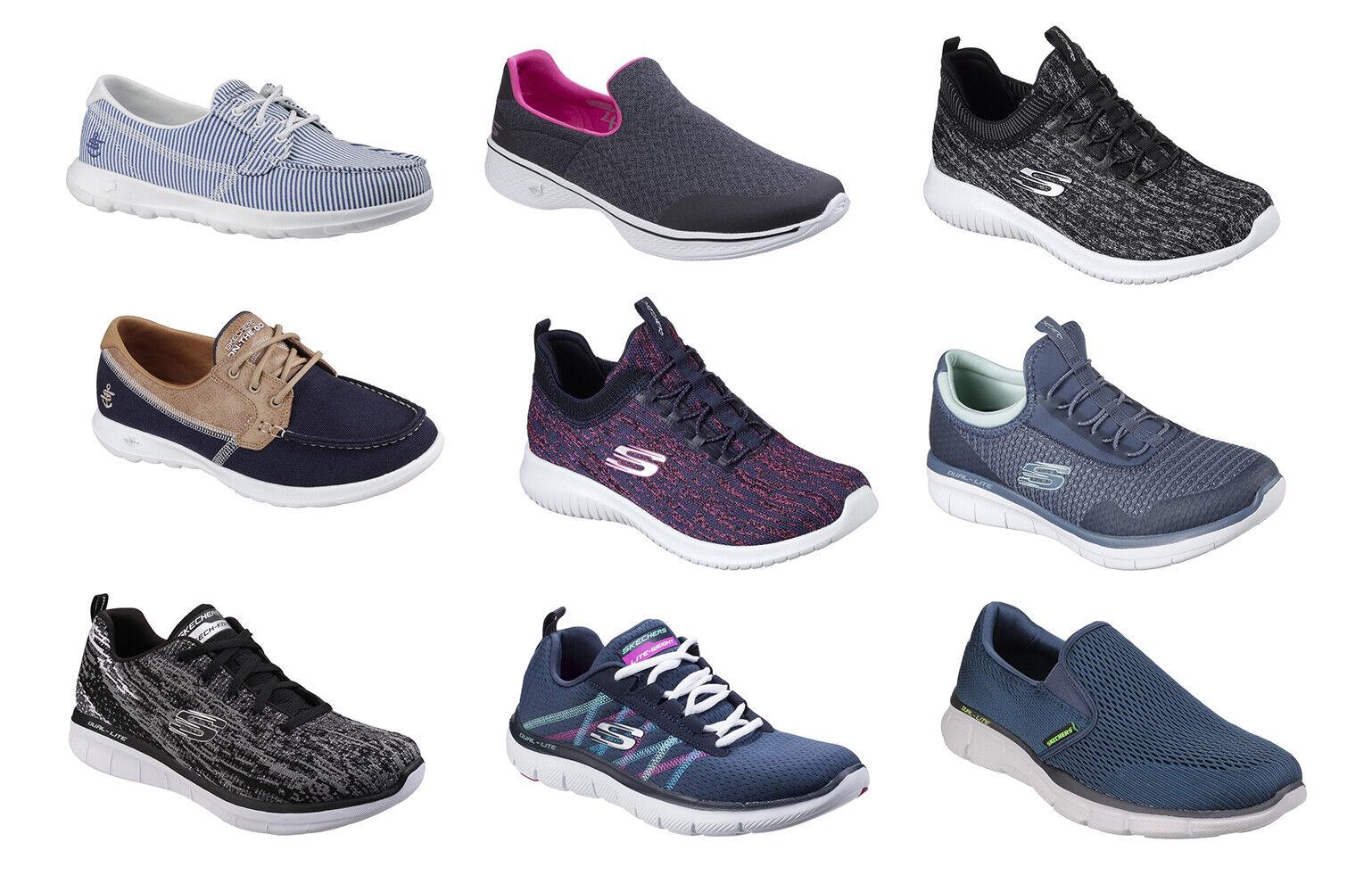 Skechers femmes Mousse à Mémoire De Forme Confort Fashion Running Walking Baskets Lite