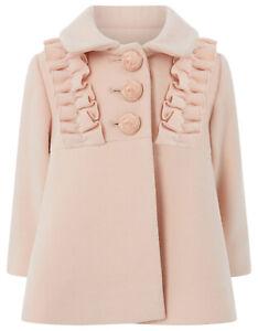 Girls-Monsoon-Pink-Florence-Princess-Dress-Baby-Coat-3-6-Months-2-3-Years