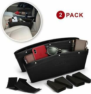 Car Gap Filler 2 Pack Car Organizer Between Seats /& Steady Car Seat Gap Filler for Car Seat Gap Organizer Front seat Leather Interior Black with Red Thread Car Organizer Front Seat with 4 Spacer