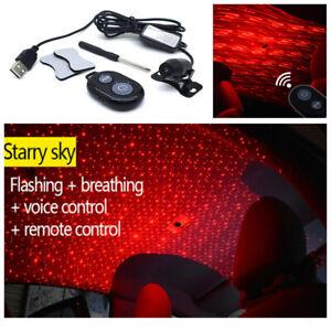 Car LED Galaxy Star Red Atmosphere Ceiling Lamp Light USB DJ kXOuPiZT