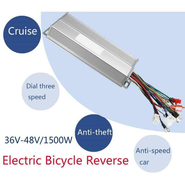 36-48V 1500W Electric Bicycle E-bike Brushless Motor Speed Controller Reverse &