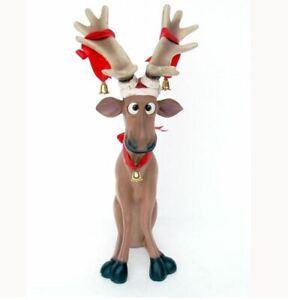 Rentier Hirsch Elch Dekoration Weihnachten Figur Statue Lustig Weihnachtsnach