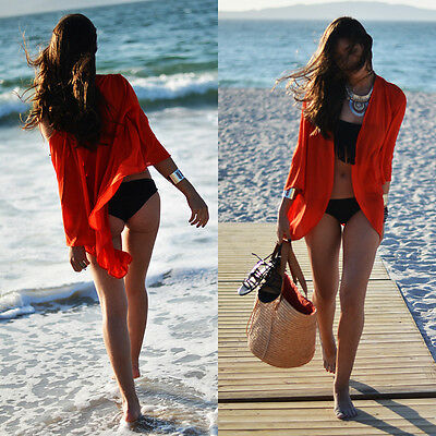 Fashion Women Sexy Bikini Cover Up Beach Chiffon Dress Summer Bathing Swimwear