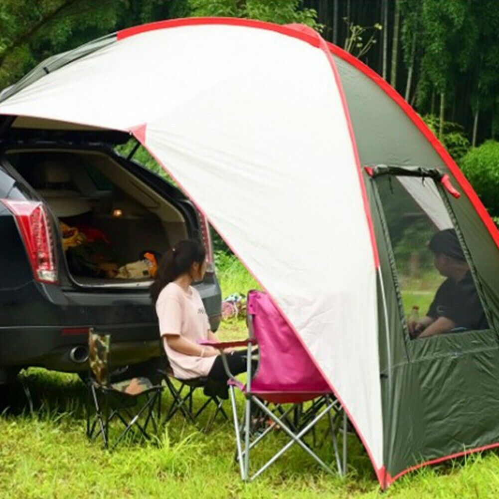 Camping Waterproof Car Tail Skylight Awning Portable Car Tent Sun Shelter Canopy