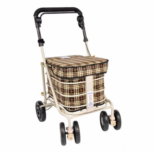 Shopping Trolley With Seat Brown walk/&rest.com ™ Vente directe du fabricant