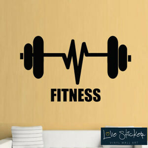 Medium,White Fitness Gym Exercise Weights Inspiration Club Wall Art Stickers Decal Vinyl Room