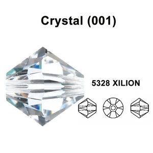 10 x Swarovski 5328 Xilion Clear AB 8mm Crystal Bicone Bead