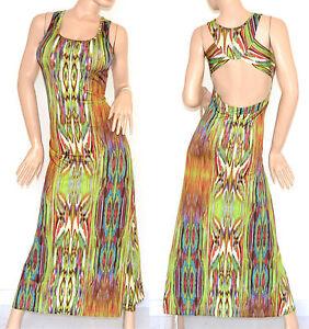 Vestiti Cerimonia Fantasia.Abito Lungo Donna Vestito Elegante Verde Bronzo Da Sera Fantasia
