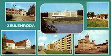 DDR Breitbild-AK ZEULENRODA ua. Neubaugebiet Rötlein, B.-Dorf Zadelsdorf, Schule