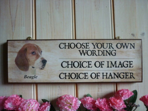 BESPOKE BEAGLE DOG SIGN BEWARE OF THE DOG SIGN PLEASE CLOSE THE GATE SIGN GIFTS