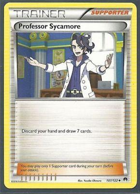 Pokemon 4X Trainer PROFESSOR SYCAMORE 107//122 UNCOMMON MINT CARD