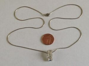STERLING-SILVER-PENDANT-amp-CHAIN