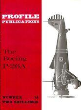 BOEING P-26A: PROFILE #14/ 20 PAGES incl A3 CUTAWAY+GEN.ARR./NEW-PRINT FACSIMILE