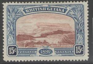 BRITISH-GUIANA-SG221-1898-15c-RED-BROWN-amp-BLUE-MTD-MINT
