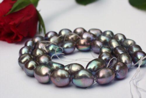 BR401 Zuchtperlen Strang Süßwasser Perlen Schmuck Kette Halskette barock