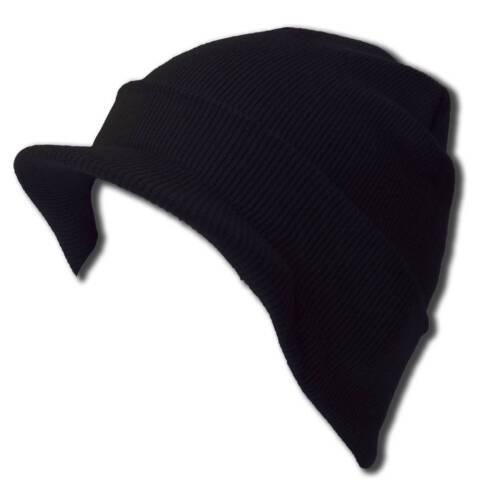 Cuff Beanie Visor Skull Cap Hat Beanie