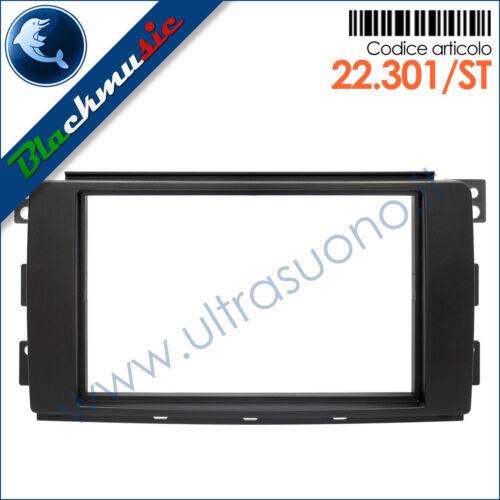 Mascherina autoradio 2ISO-2DIN Smart ForTwo 2 Grigio scuro W451 2007-2010