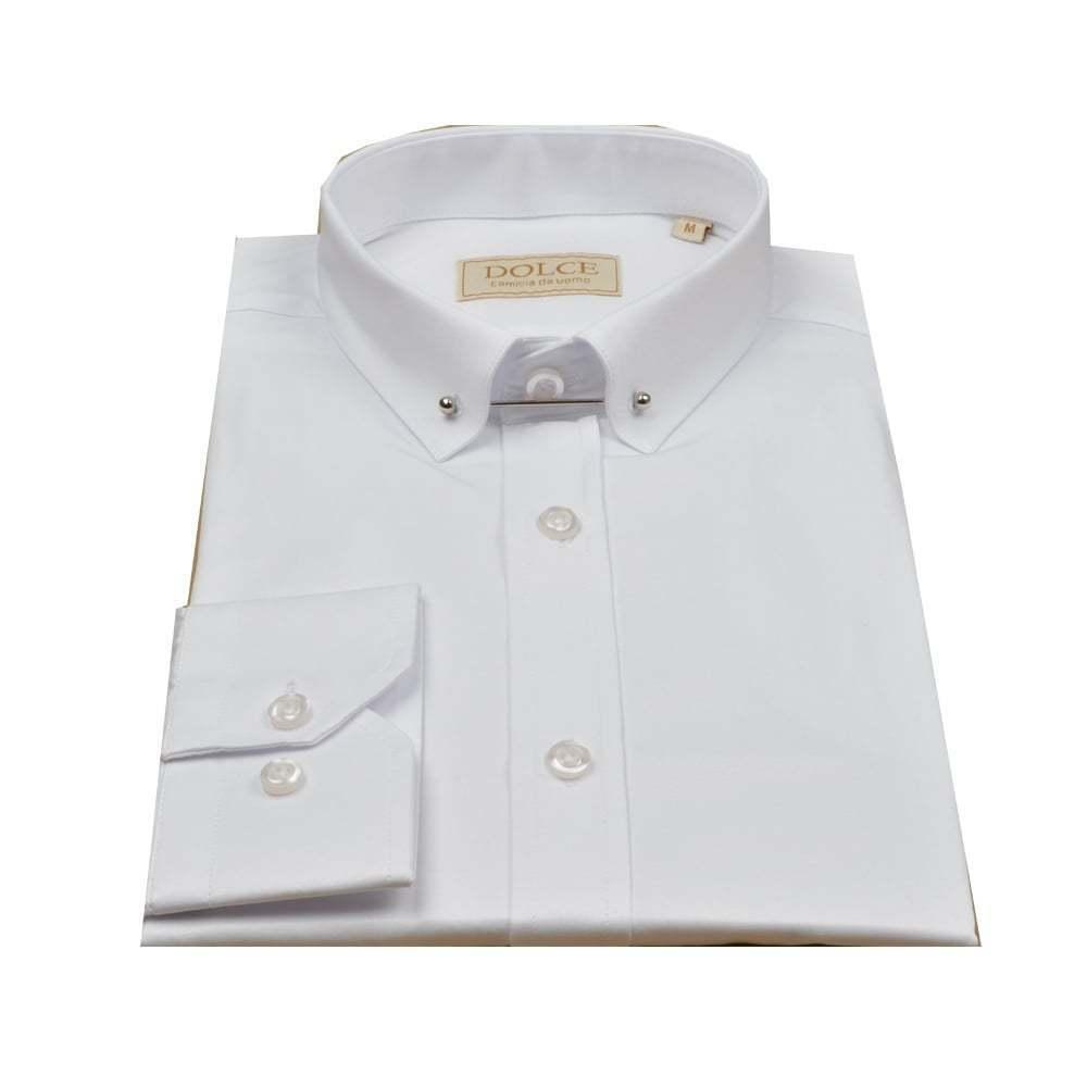 DOLCE Uomo Camicia SPILLA colletto colletto colletto camicia da uomo cbc91b