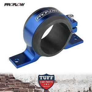 Proflow-Blue-Alloy-Fuel-Pump-Bracket-for-Bosch-044-Mount-Clamp-amp-Rubber-New