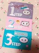 [Holika Holika] Pig-Nose Clear 3 STEPS KIT-Black Head-EXCELLENT RESULT UK SELLER