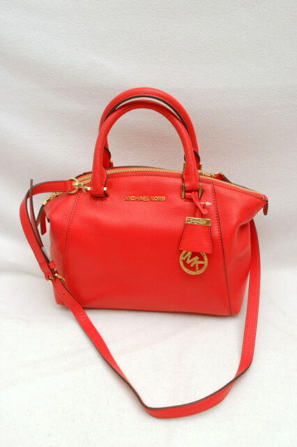 5c23a1d2ec5a Michael Kors Riley Small Watermelon Leather Satchel Handbag for sale ...