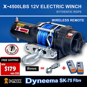 I-Max-12V-Wireless-4500LBS-2041KGS-Electric-Winch-ATV-4WD-4x4-Boat-Truck-4000LBS