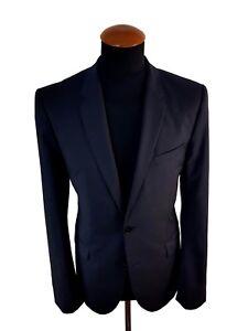 Hugo-Boss-Red-Aerins-Sakko-Gr-48-100-Wolle-Dunkel-Blau-blazer-size-38R-UK-j7