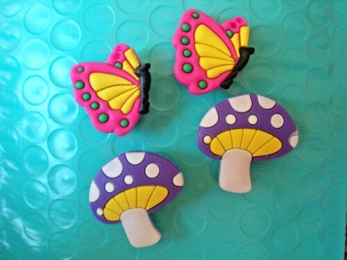 Jibbitz Clog Shoe Charm Plug 4 Mushroom Butterfly Accessories Bands Sandal