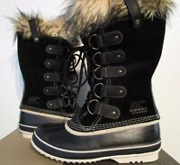 Womens 6-9-9.5-10-11 Sorel Joan Of Arctic Leather Insulated Snow Boots - Black