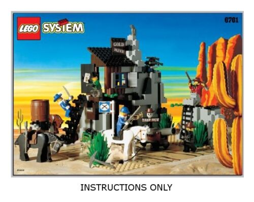Instructions for LEGO 6761 Bandits Secret HideOut INSTRUCTION MANUAL ONLY