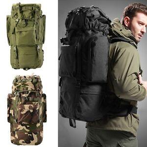 Oxford Outdoor Hiking Camping Backpack Rucksack Bag 80L Waterproof Unisex