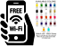 Free WiFi Vinyl Decal Sticker Oracal Business Offices Store Sign Internet Spot